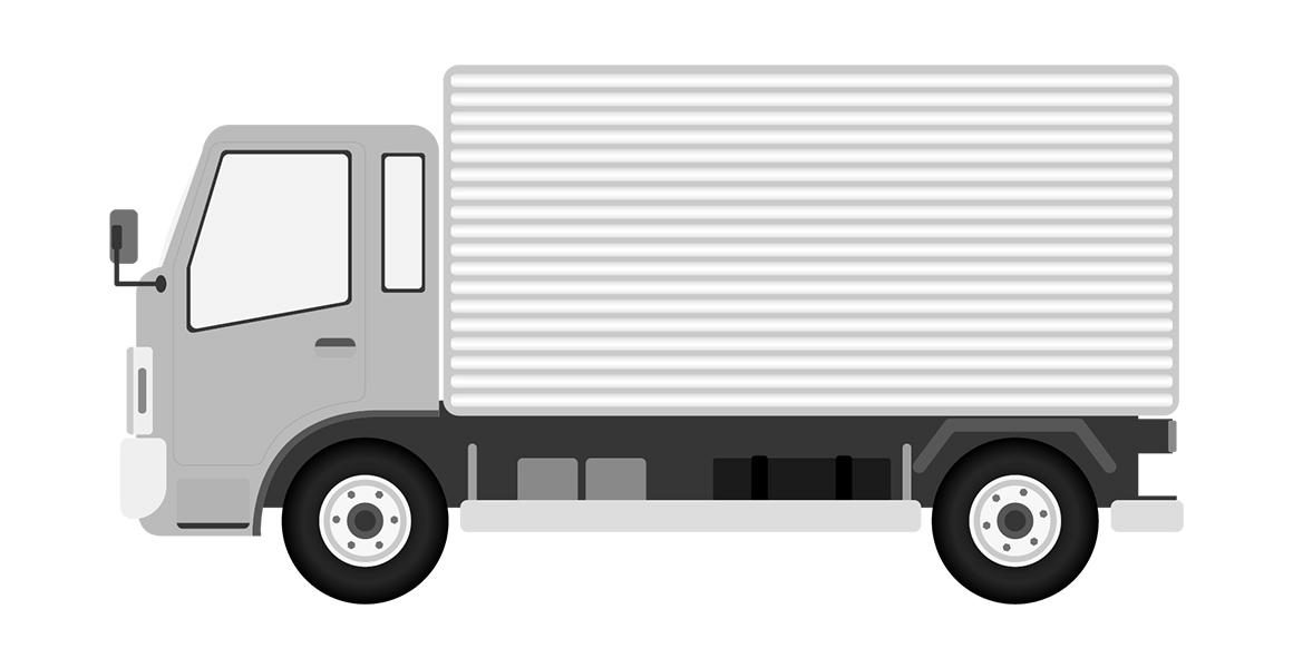 パネル式箱車のトラック